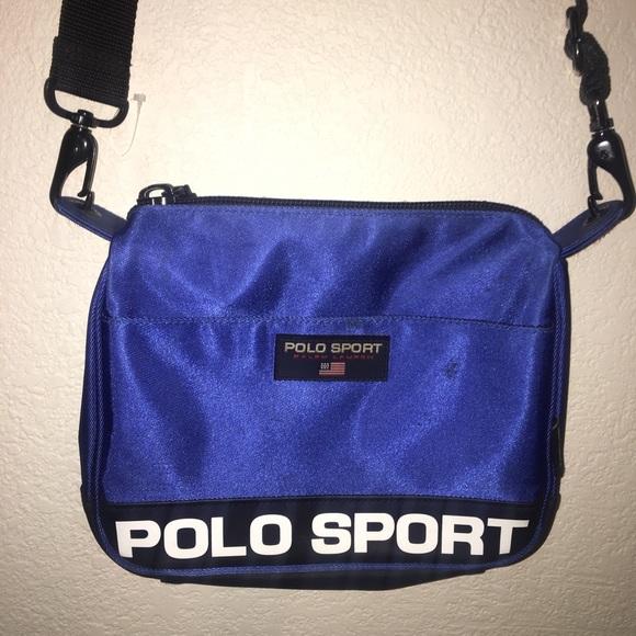 b0b1ece4755b Vintage 90 s polo sport crossbody bag blue. M 5ae1458ed39ca25e540c1920